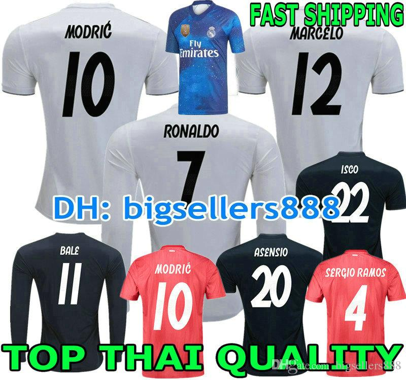 2019 VINICIUS JR ASENSIO EA SPORTS 18 19 Real Madrid Jersey Soccer Home  RONALDO BENZEMA BALE KROOS RAMOS MODRIC ISCO NAVAS MARCELO Football Shirt  From ... badb0c3a6