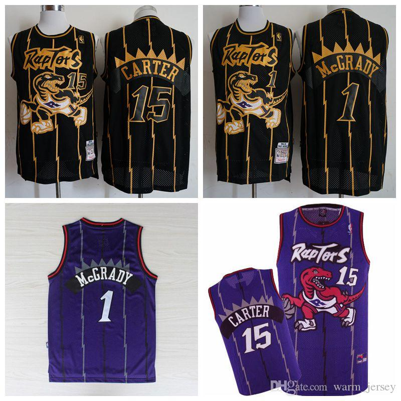 reputable site 0aef1 83e91 2019 Men Tracy McGrady Toronto Vince Carter Raptors Mitchell & Ness 1998-99  Hardwood Purple Classics Swingman Jersey