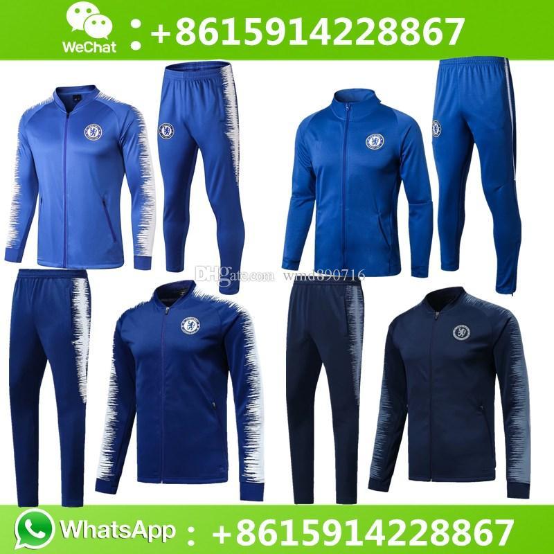 Compre Top Chelsea Jacket Conjunto De Treino Sportswear 2018 2019 Chelsea  Casaco De Treino HAZARD JORGINHO MORATA FABREGAS GIROUD De Wmd890716 793a52564d96d