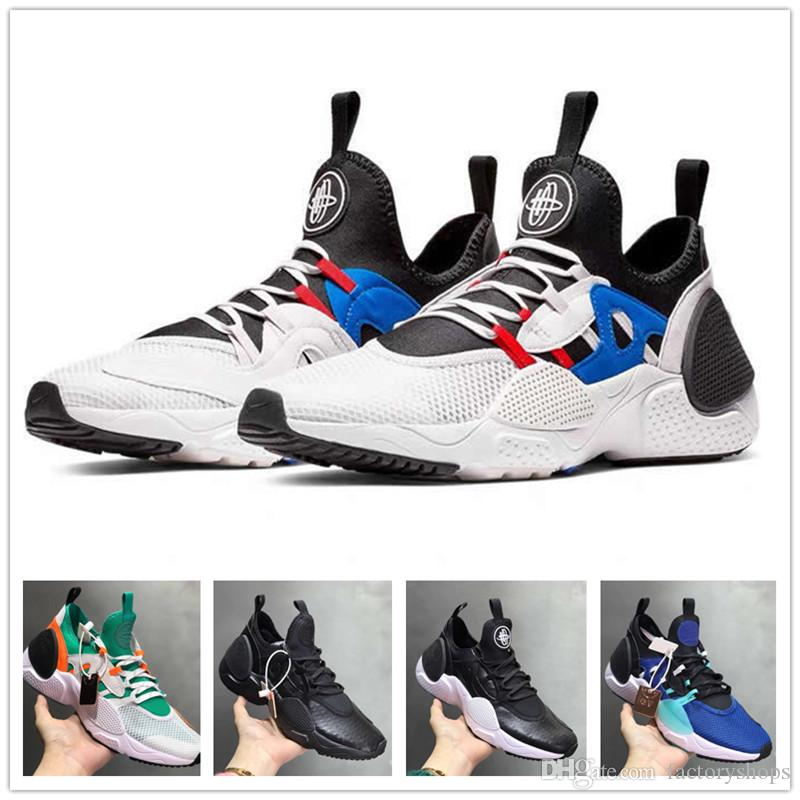 235acc656d629 2019 Top Quality Huarache E.D.G.E TXT QS Running Shoes Men Women Huaraches  7 EDGE Triple Black White HUARACHE E.D.G.E. Outdoor Sneakers Running Shoes  ...