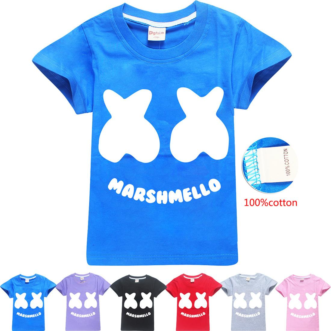 7097e73d06 Baby boys girls Marshmello T Shirt DJ Music cotton T-shirt for summer  children wear kids cute casual clothes DHL fast shipping free