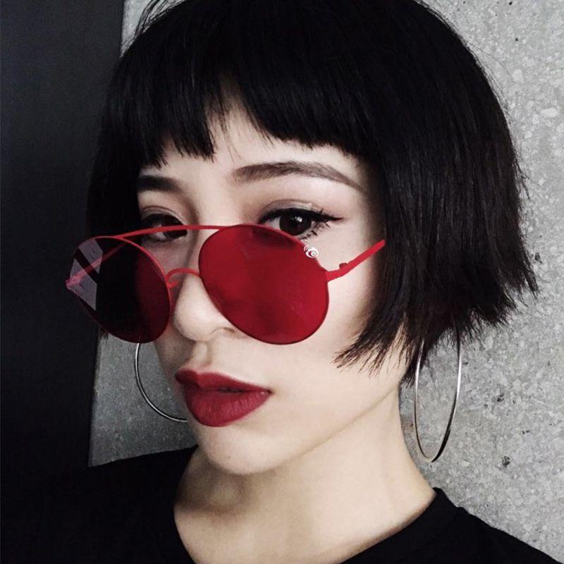 c1087a789e48 Italian Brand Designer Sunglasses Fashion Women Oval Retro Sun Glasses For  Female Round Oculos De Sol Color Lens Eyewear Shades UV400 Womens Sunglasses  ...