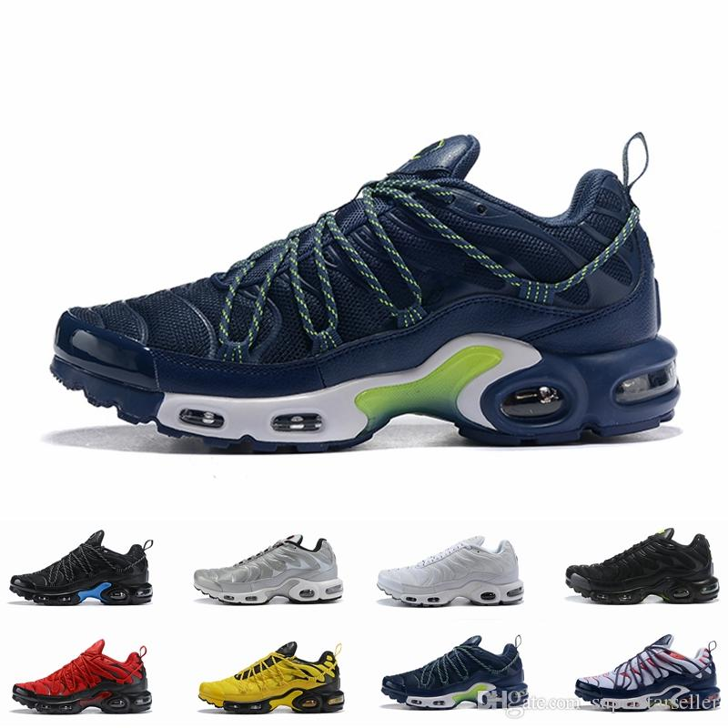 sports shoes 0a848 e48f2 Acquista Nike Air Max Tn Plus Airmax Tns 2019 New Tn Plus Og Scarpa Uomo  Tns Scarpe Da Corsa Sport Trainer Traspirante Scarpe Nero Bianco Rosso  Casual ...