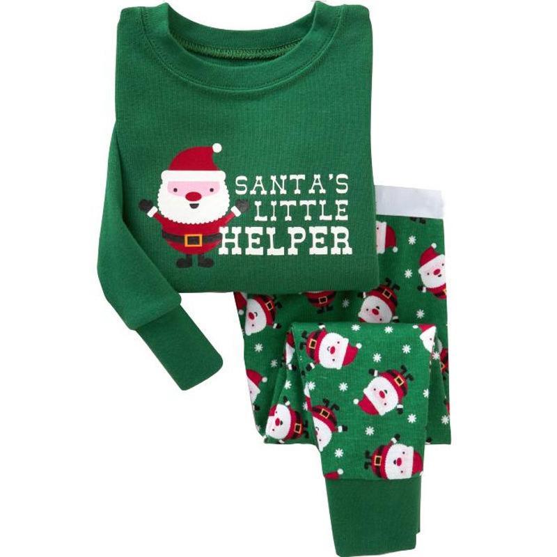 de5068f9215f Kids Christmas Pajamas Set Children Pajama For Girls 2 7 Years Girls ...