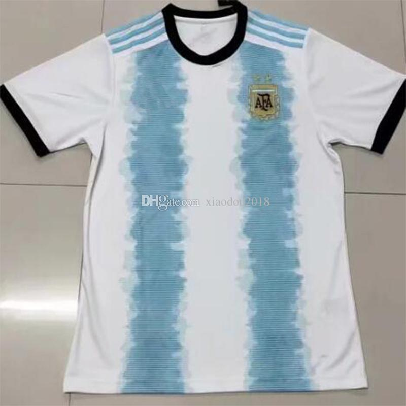 S XXL Nueva Temporada 2019 2020 Camiseta De Fútbol De Argentina Camiseta De  Fútbol De Argentina Camiseta De Fútbol Dybala Kun Aguero Camisa Messi Por  ... 786f7100184
