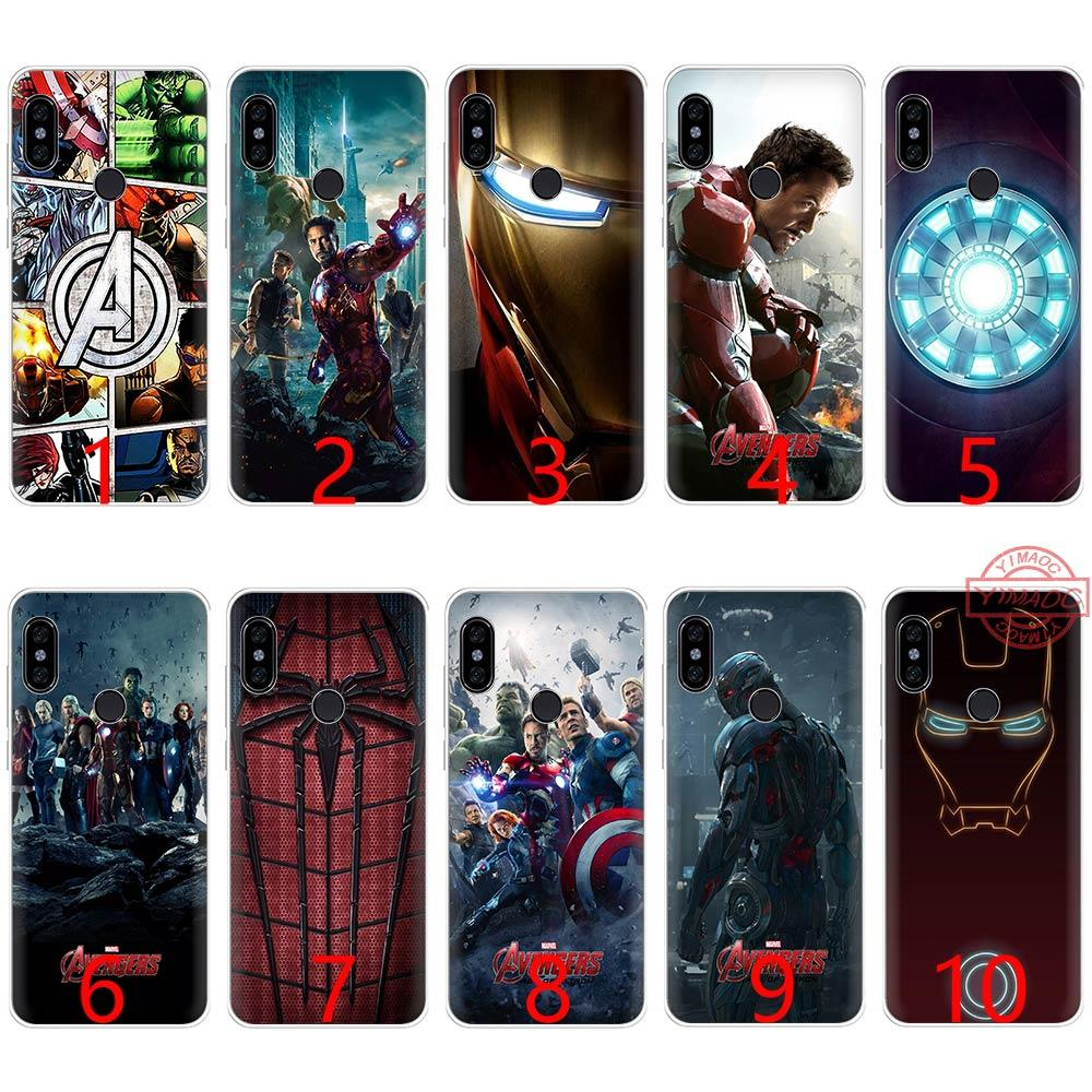 san francisco 47257 3743e Marvel Comics is The Avengers Soft Silicone TPU Phone Case for Redmi Note 4  4X 5 6 Pro 6A S2 Cover