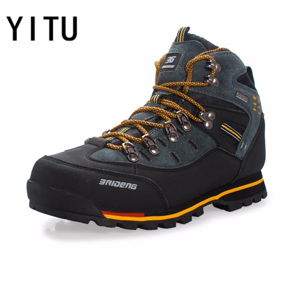542053e83ff YITU Breathable Outdoor Hiking Shoes Camping Mountain Climbing Hiking Boots  Men Waterproof Sport Fishing Boots Trekking Sneakers