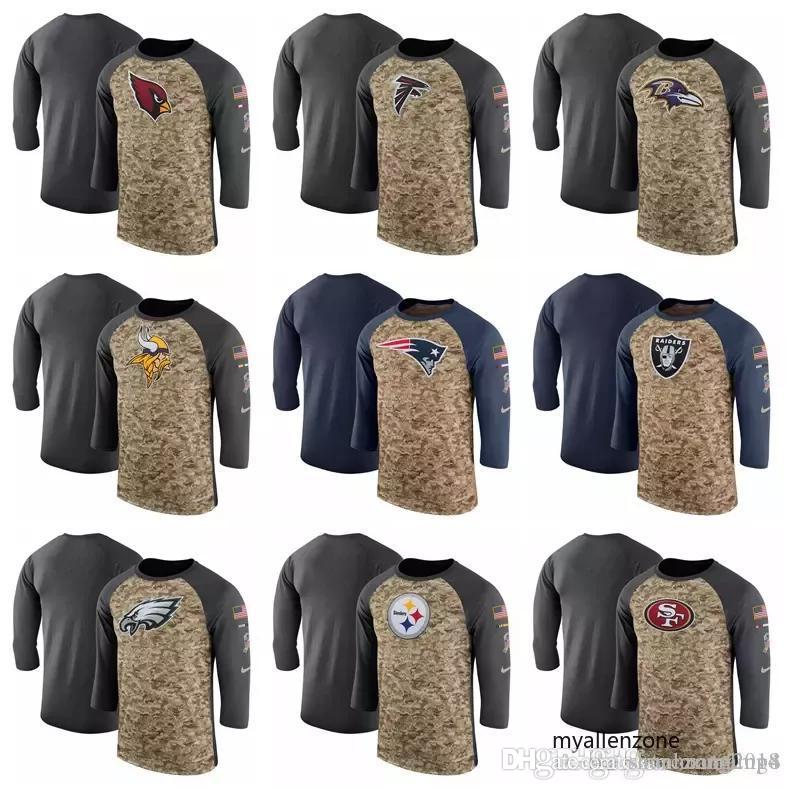 6ab49fe4b ... Steelers Patriots Raiders Eagles 49ers Salute To Service Performance  Sleeve T-Shirt Online with  35.24 Piece on Shunhuang2018 s Store