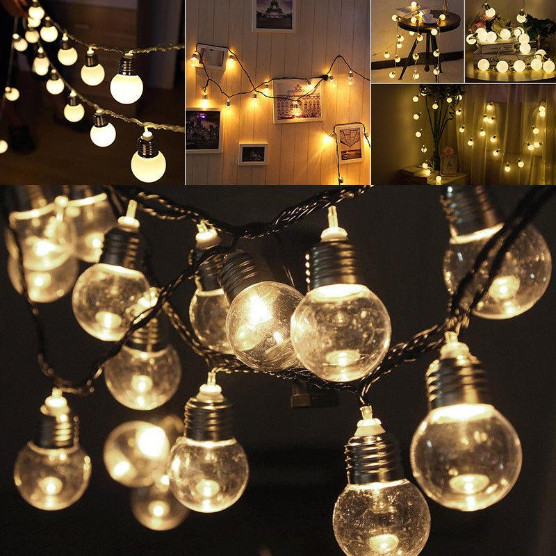 Led Xmas String Lights120 Leds Fairy Party Decorative Wire Light