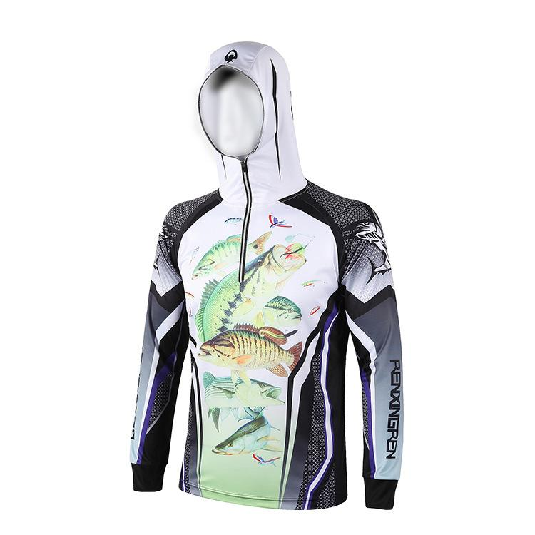 bc728da932bf 2019 Men And Women Outdoor Camping Fishing Clothes Breathable Sun  Protection Clothing Quick Drying UV Long Sleeve Hooded Shirt Sports From  Gqinglang