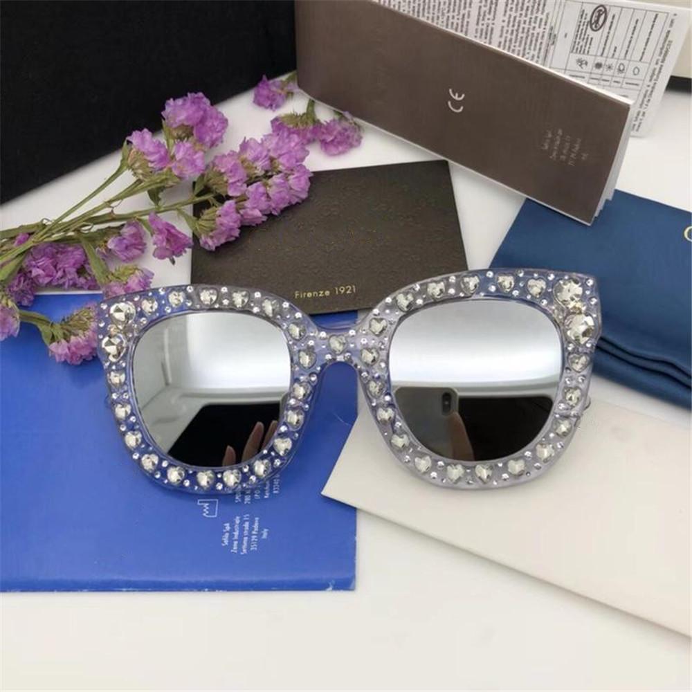 27a3fdf44bd 2019 Women Popular Sunglasses Luxury Designer Cat Eye Glasses High Quality  UV400 Love Heart Diamond Trendy Square Eyewear With Case And Box Polarized  ...