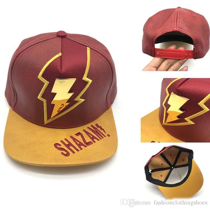 de5e1d1f578 2019 2019 Golden Metal Label Thunder Thunder Sha Zan Hip Hop Cap Lightning  Knight Errant Baseball Cap Red And Yellow Duck Tongue Cap From ...