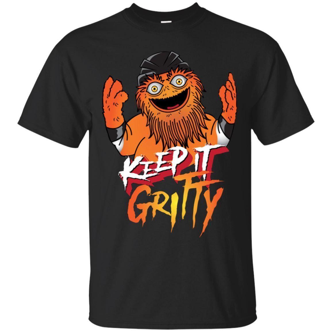 bf13c29de Keep It Gritty Hockey Black Tshirt For Men Gritty Philadelphia Hockey  Mascot Tee T Shirt Shop Design Crazy T Shirts Online From  Beautifulfuture56