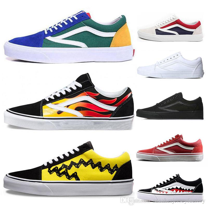 18ff9cafae 2019 Fashion Van Luxury Designer Women White Shoes Mens Sports Casual Shoes  Off The Wall Red Bottoms Sneakers Old Skool Size 36 44 Cheap From ...
