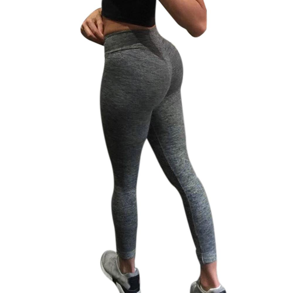 56a0ed8f17f Women's Fashion Workout Leggings Fitness Sports Gym Running solid Athletic  Pants Leggings deportivos mujer *40
