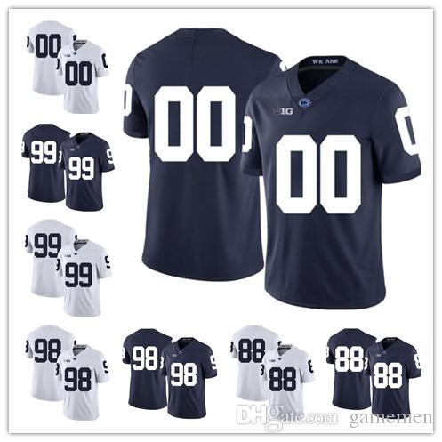 2019 Penn State Nittany Lions 26 Saquon Barkley 18 Jesse James 99 Austin  Johnson College Football Jersey Mens No Number Stitched Jerseys From  Gamemen ba632b327