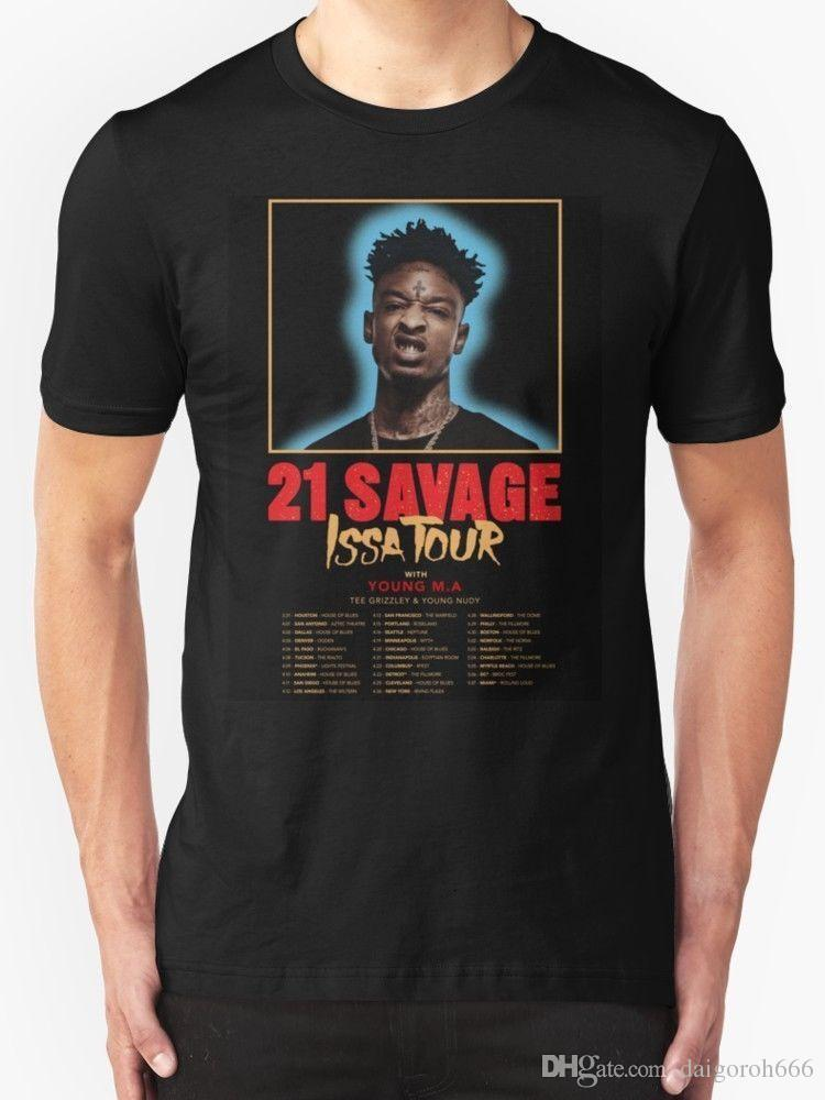 20667c6866d New 21 Savage Issa Tour T Shirt MEN WOMAN Size S 5XL Offensive Shirts  Ringer T Shirts From Daigoroh666