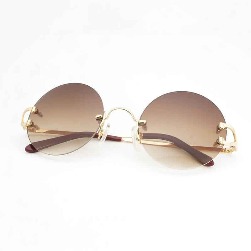 9c290b5a63 Compre Sin Montura De La Vendimia Pequeñas Gafas De Sol Redondas Hombres  Marco De Metal Gafas De Sol Sombras Para Gafas Al Aire Libre Accesorios  Gafas ...