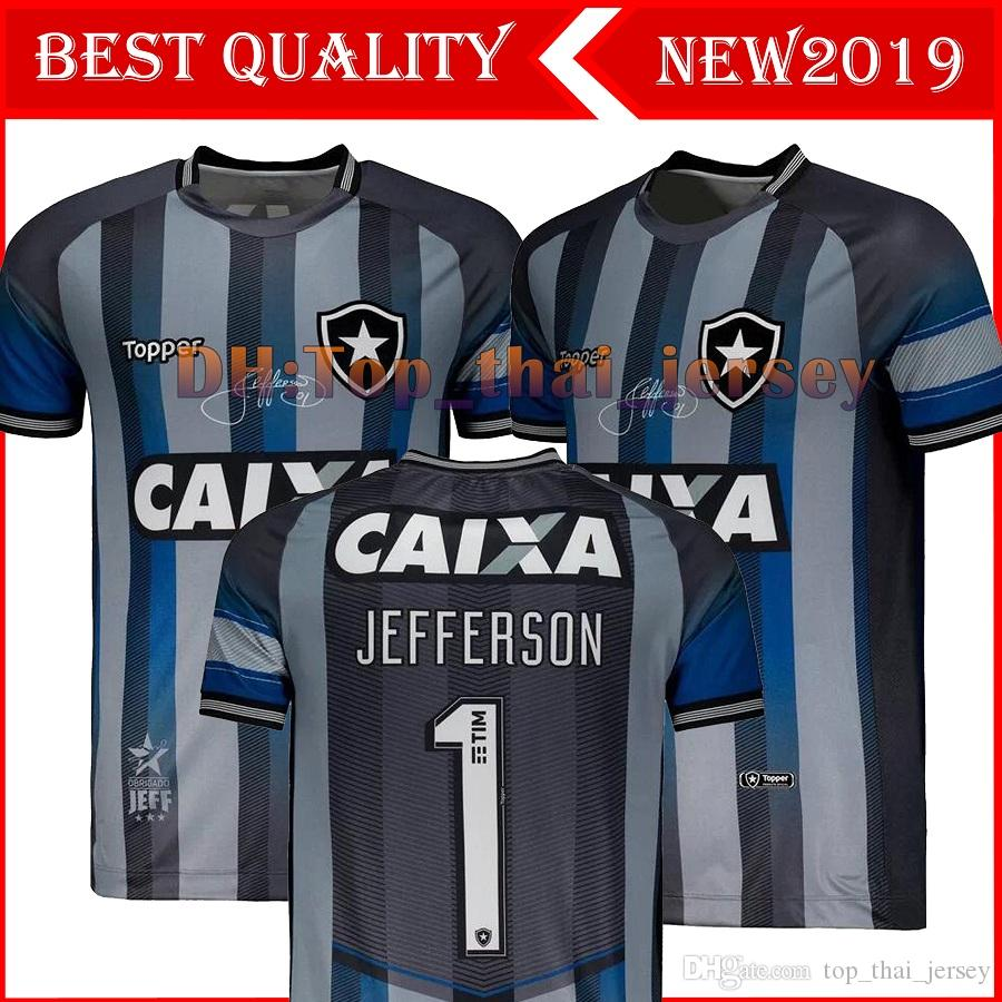19/20 Botafogo Commemorative Edition Soccer Jerseys 2019 Botafogo Home Grey #1 JEFFERSON Retro Special Goalkeeper football Shirt uniform