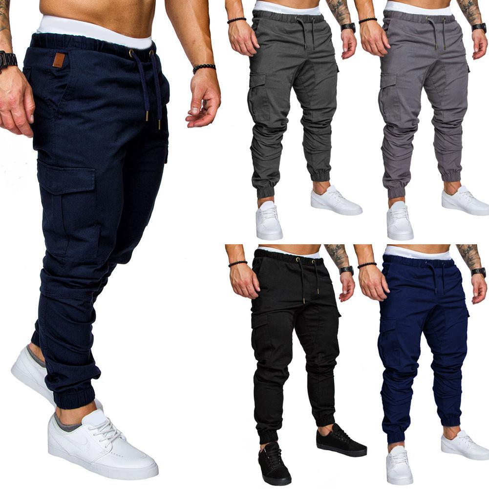 a6b56c467 2019 Men Tracksuit Cargo Straight Leg Sweatpants Sports Jogger Casual  Sportwear Slim Fit Pants Long Pants Fabala Pencil Trousers From  Blueberry13, ...