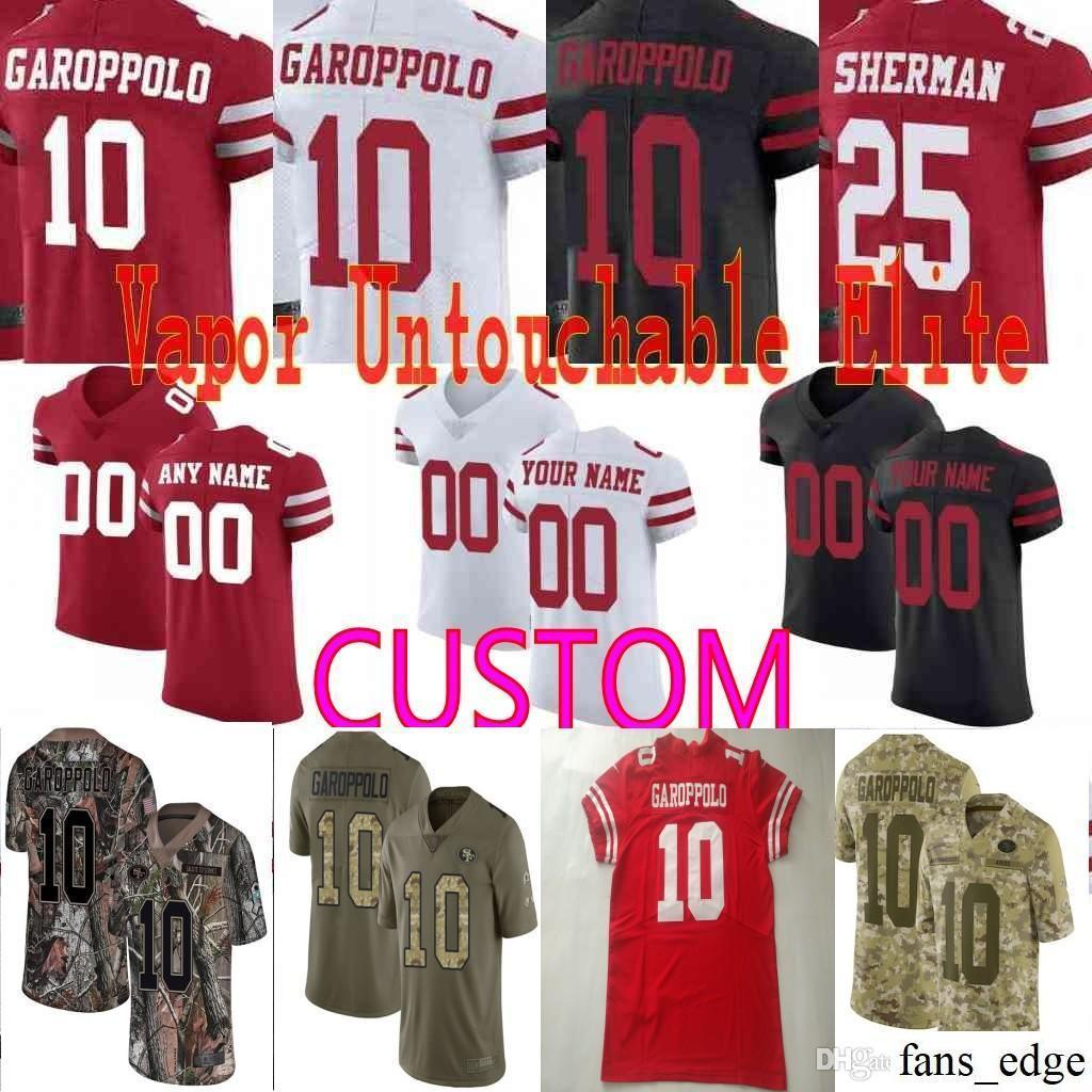 42520f050 2019 Custom Men San Francisco 10 Jimmy Garoppolo Jerry Rice Joe Montana  Richard Reuben Foster Young 49ers Camo Realtree Elite Jersey From  Fans edge
