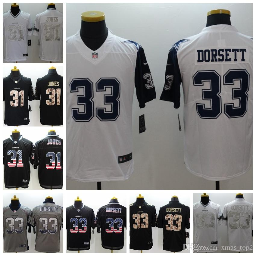 brand new 03d6d bc8e6 2019 Mens 33 Tony Dorsett Jersey Dallas Cowboys Football Jersey 100%  Stitched Embroidery 31 Byron Jones Color Rush Football Stitching Jersey