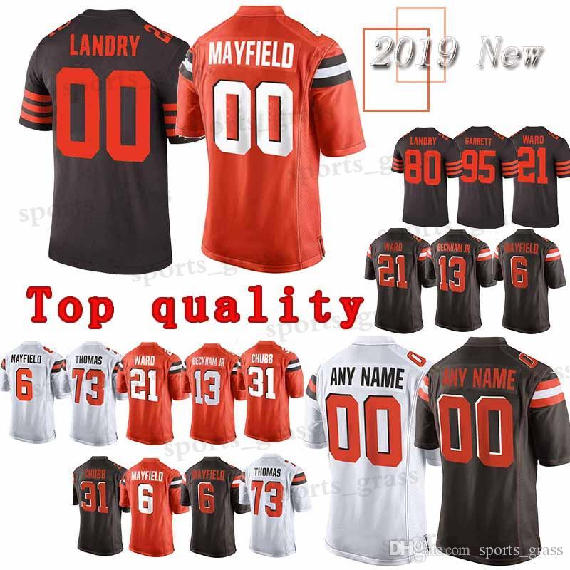 size 40 4f045 aedfd custom Game Cleveland Jersey Browns 13 Odell Beckham Jr 95 Myles Garrett 24  Nick Chubb 53 Joe Schobert 11 Antonio Callaway Jerseys