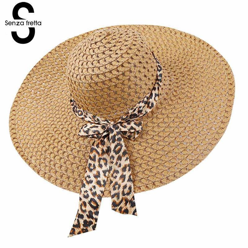 2018 New Women Summer Hat Wide Brim Straw Hat Summer Beach Hats ... 7416514d264c