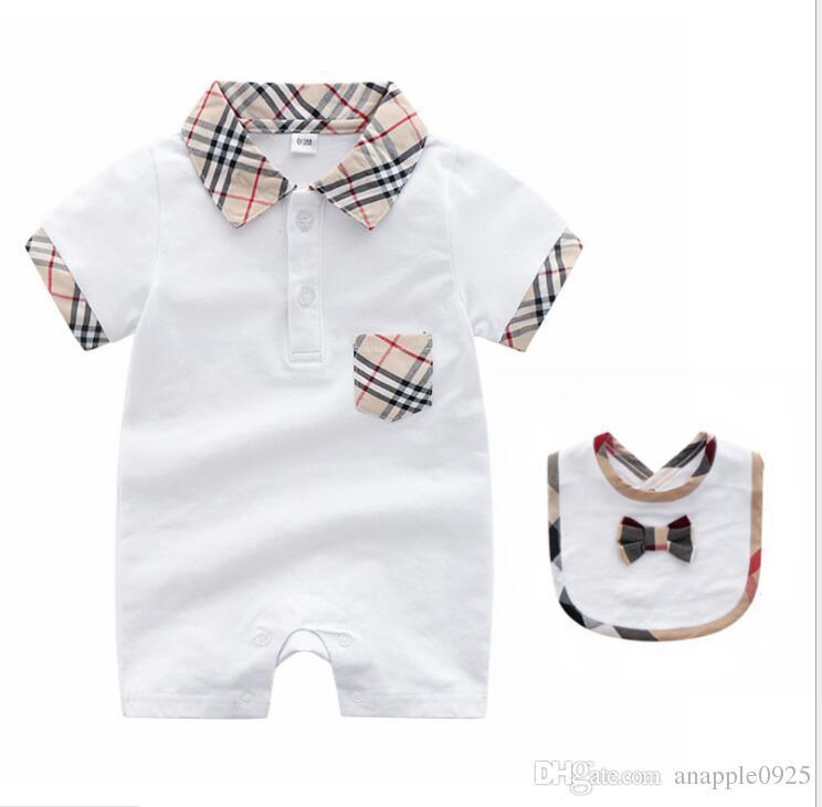 1ab737dfd3e3c Baby Onesies Summer Short Sleeve Newborn Clothes 0-3 Months Dark Button  Baby Clothes Set Cotton Thin