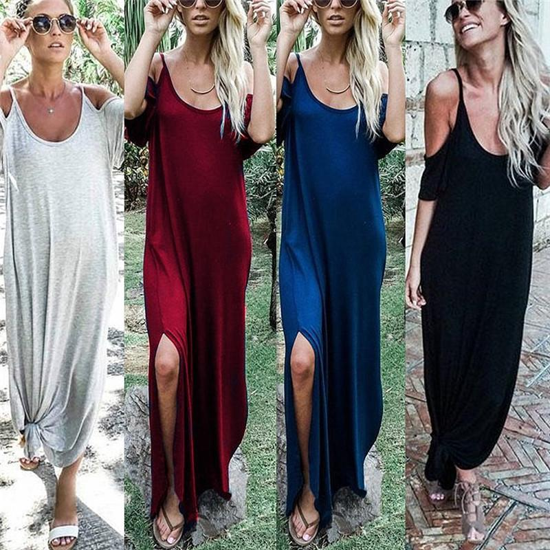 2c9833a4afe 2019 New Summer Boho Casual Long Maxi Evening Party Cocktail Beach Dress  Sundress Collar Beach Long Skirts Sexy Woman Dress Dresses For A Cocktail  Party ...