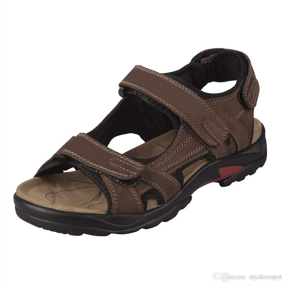 ae48fbc128195 New Men's sandals Leather sandals men leather Shoes #217667