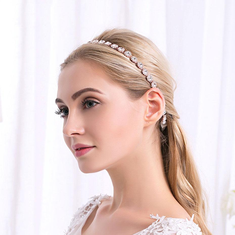 b7087bc08d7 2019 Handmade Women Hairband Rhinestone Crystal Headbands Wedding Hair  Accessories For Bridal Hair Jewelry SP2077 From Dushiearring