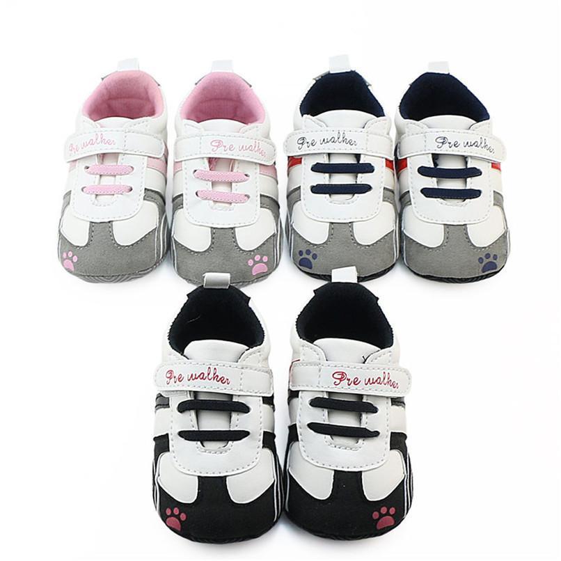 ba757d2cc74cf Compre Zapatos De Bebé Niño Recién Nacido Bebé Niño Niña Cuna De Cuero  Prewalker Suela Blanda Zapatillas De Deporte Antideslizantes Zapatos  Zapatillas De ...