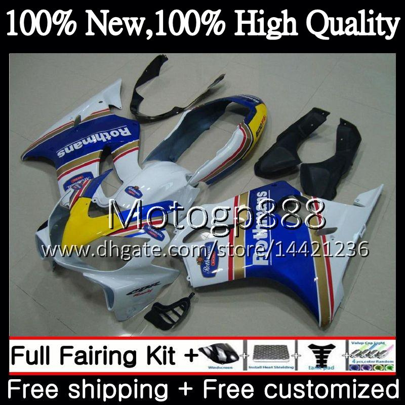 Body Rothmans Blue For HONDA CBR 600F4i CBR600 F4i 04 05 06 07 45PG2 CBR 600 F4i CBR600 FS CBR600F4i 2004 2005 2006 2007 Fairing Bodywork