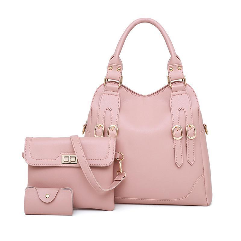 8ae4c94756de A Set Fashion Belt Shoulder Tote Bag Messenger Crossbody Small Card Big  Hand Bags For Women Ladies Handbags Purses Bag Leather Bags For Men Evening  Bags ...