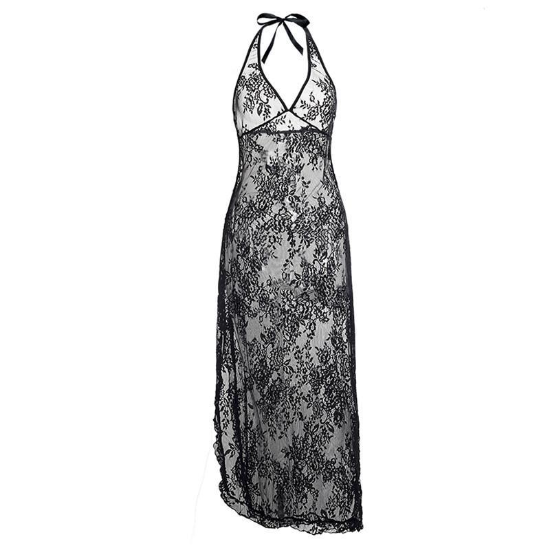 7d0157ee4b7 Black Red Lace Flower Long Gown Dress Plus Size S M L XL XXL 3XL 4XL ...