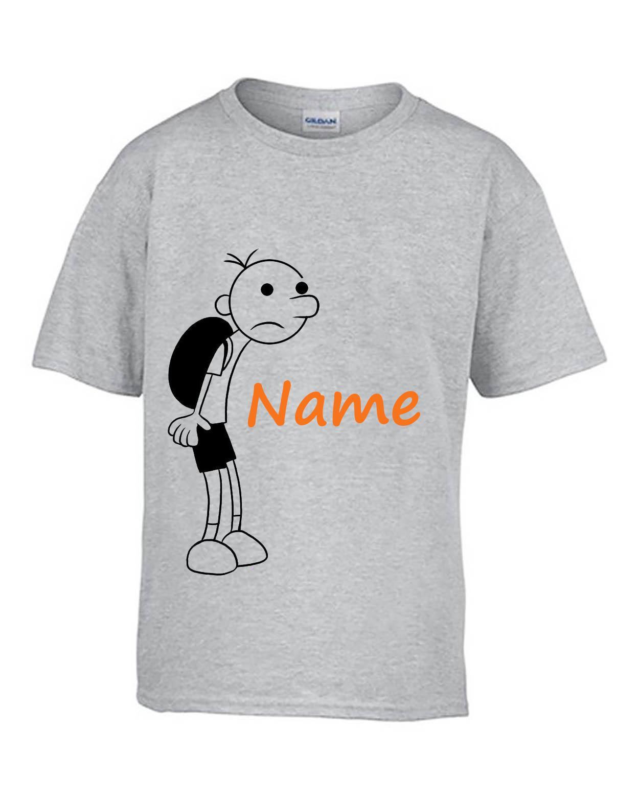 chaussures de séparation c2937 f4c10 Journal personnalisé pour enfants d un livre d enfant Wimpy T-shirt Haut  Vêtements The Long Haul Cartoon T-shirt Hommes Unisexe