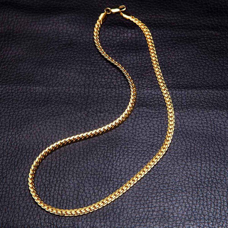 cec75d945749 Compre Acero Inoxidable Curb Collar Cubano Para Hombres Mujeres Oro Negro  Plata Acero Cadena Cadena Collar 50 Cm Joyería De Moda A  34.73 Del  Fujinplea ...