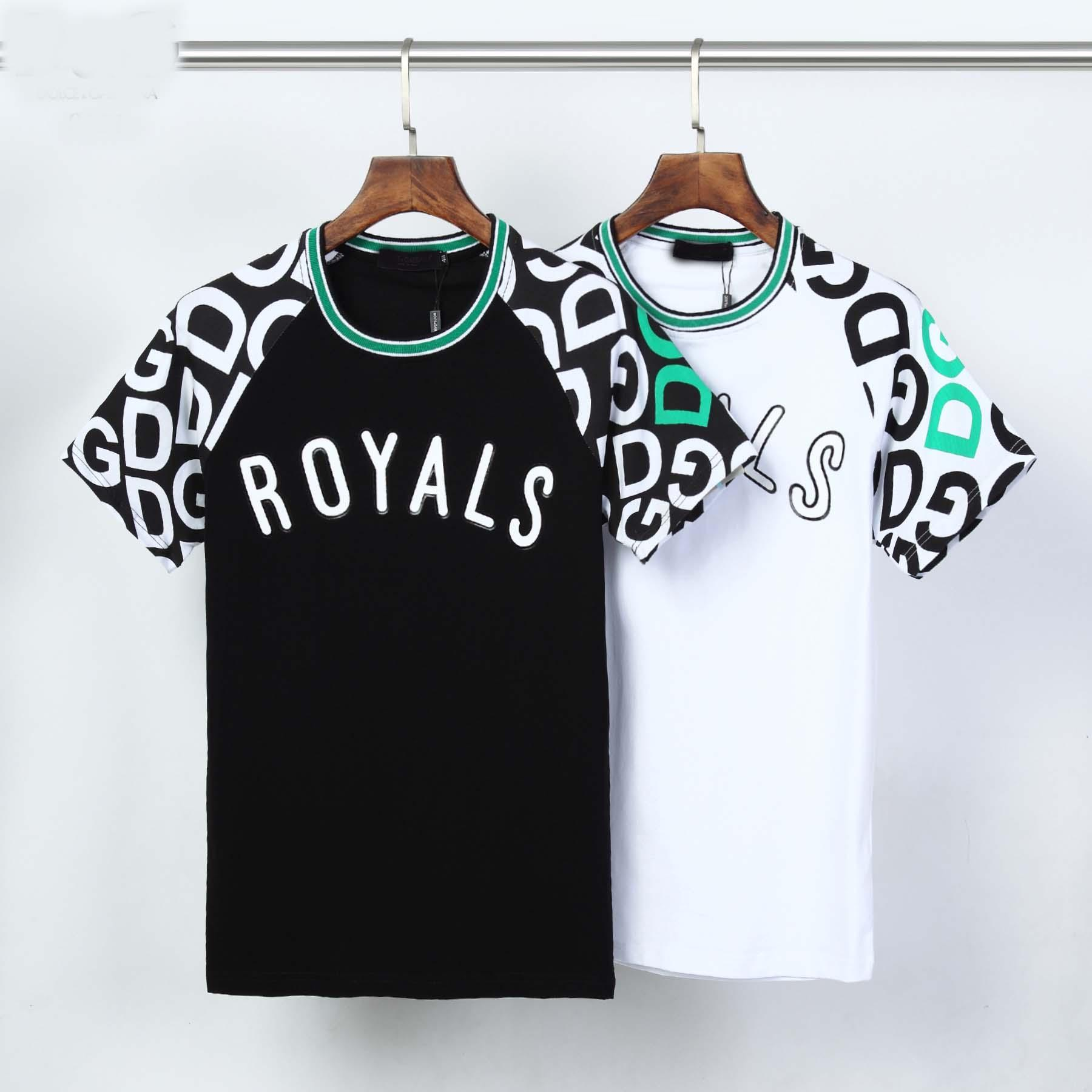 2020ss Hip-hop men's fashion high-quality Medusa printed T-shirt men's and women's summer short-sleeved T-shirt 2 styles.
