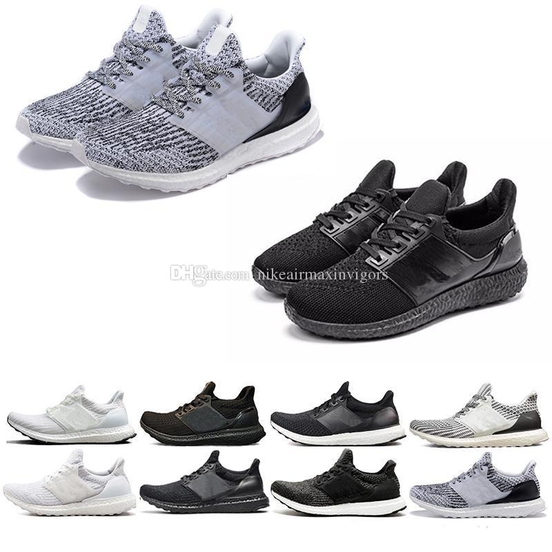 online store d2a81 fe588 Original 100% quality Ultra Boost 3.0 4.0 Uncaged Shoes Men Women  Ultraboost Primeknit White Black Athletic 36-47 5.0 19 Refract Casual shoe