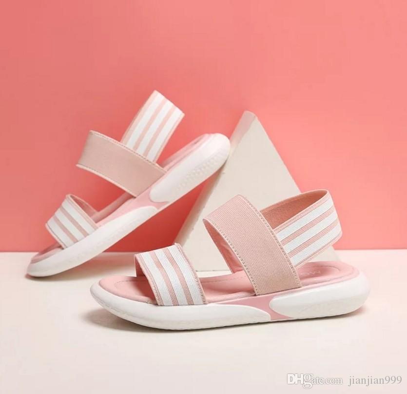 c55e7c0eda1a Girls Sandals 2019 New Big Children Korean Version Of The Tide Summer Beach  Shoes Children Students Soft Bottom Non Slip Shoes Toddler Sneakers For Boys  ...