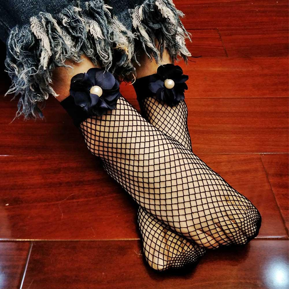 Summer female sexy comfortable lace fish net net flat top socks peony stockings hollow fishnet socks calcitenes