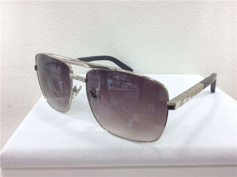 8131252b669fd Compre Luxo New Men Designer Óculos De Sol Atitude Blocos Lente 0259U Óculos  De Sol De Metal Quadrado Quadro Clássico Modelo Uv400 Lente Com Caso De ...