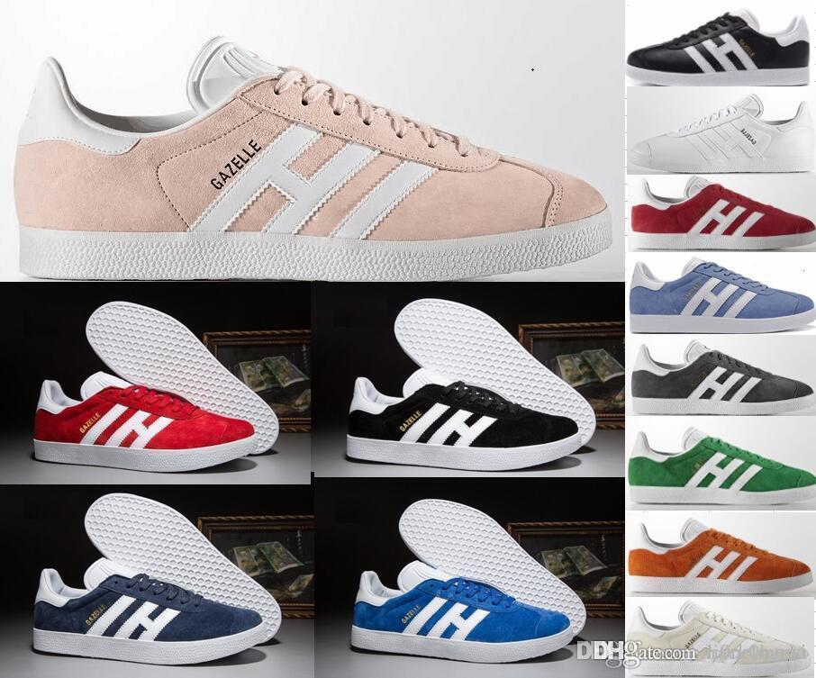 Detalles de Adidas Originals HOMBRE Gazelle Gris de Entrenadores Zapatillas Fútbol Casual