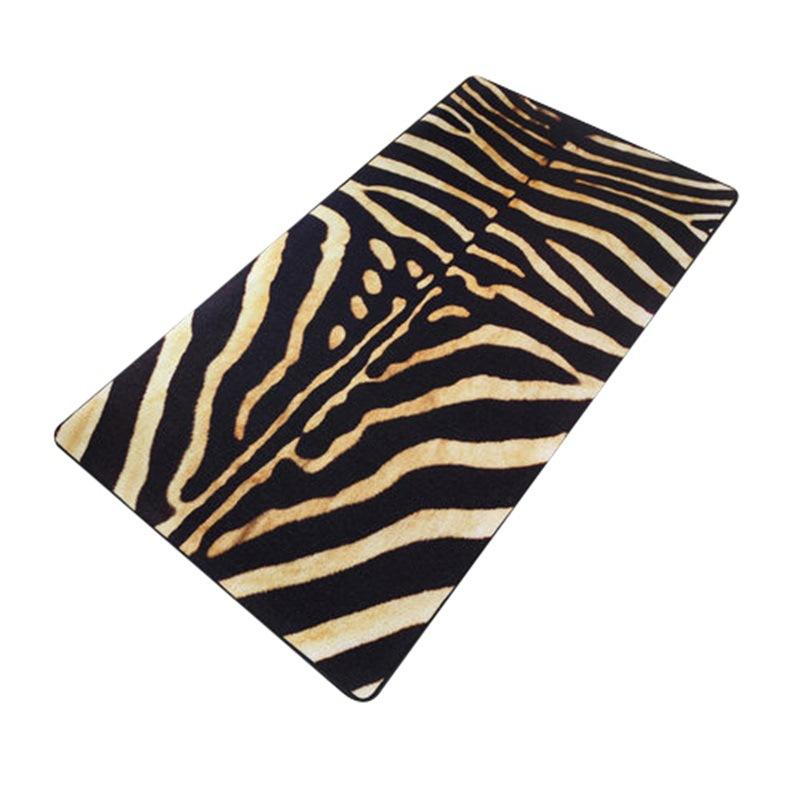 Fashion Nordic Style Sexy Tiger Skin Stripes Carpets For Living Room Velvet Artificial Leather Rugs Carpet Bedroom Antiskid Mats