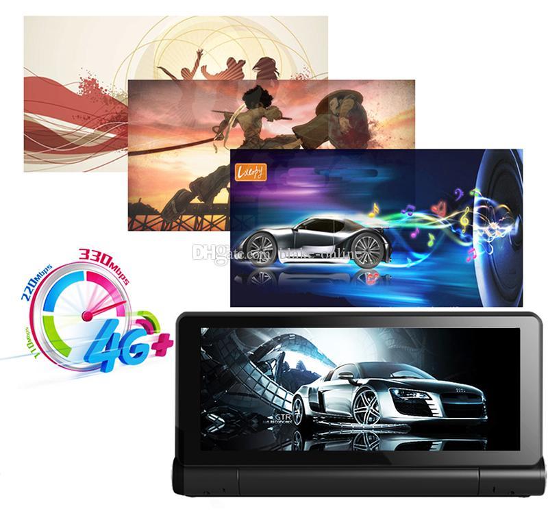 글로벌 4 세대 7 인치 1080P 안 드 로이드 와이파이 자동차 DVR 블루투스 AVIN GPS 네비게이션 듀얼 렌즈 캠코더 대시 보드 비디오 레코더