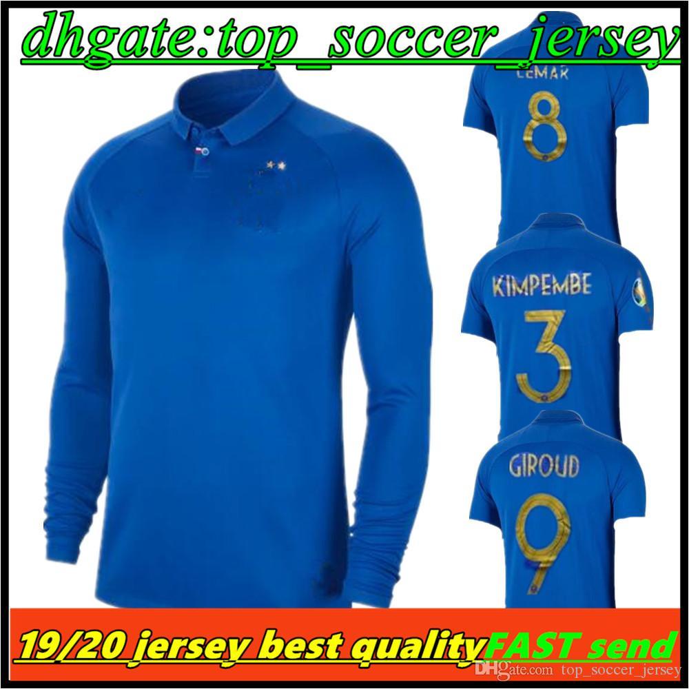 b57c973c4c7 2019 2019 Long Sleeve Shirt And Short Sleeve For Men Fff Centennial Stadium French  Soccer Jersey GRIEZMANN MBAPPE Football Shirt From Top soccer jersey