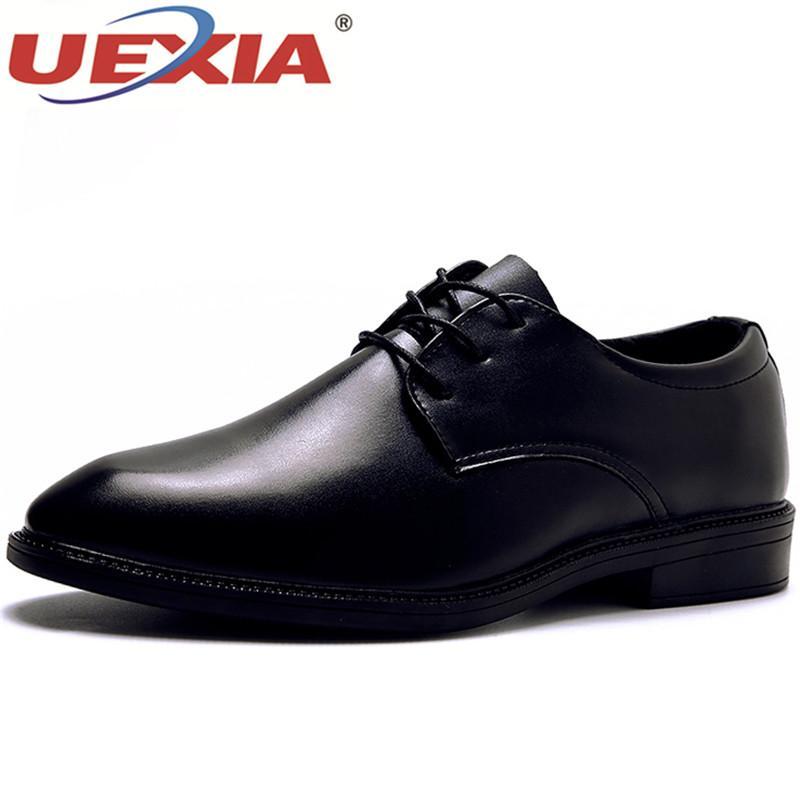 Männliche Ankle Hochzeit Business Uexia Mode Büro Spitz Oxfords Männer Leder Kleid Schuhe Formelle Schnürung LzjSGVqUMp
