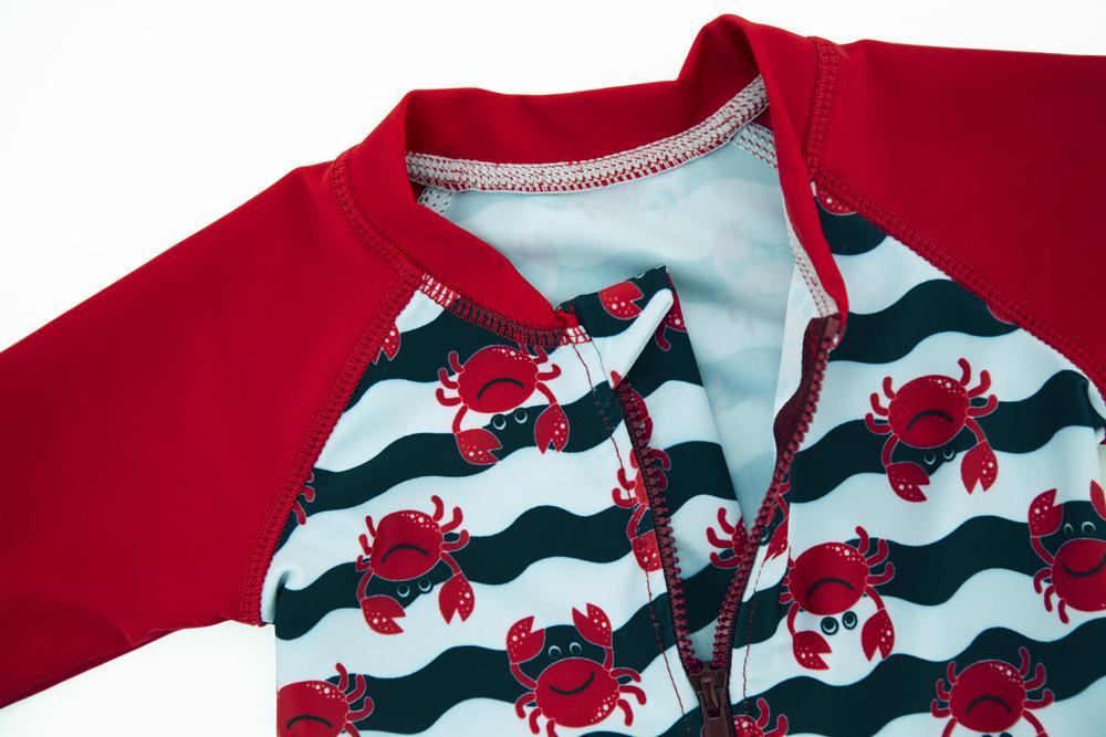 Baby Boy Um Pieces Swimsuit Sunproof Quick-dry Bodysuit Criança Crianças Swimwear Surf Crianças Ternos de Banho Menino Swim Beachwear