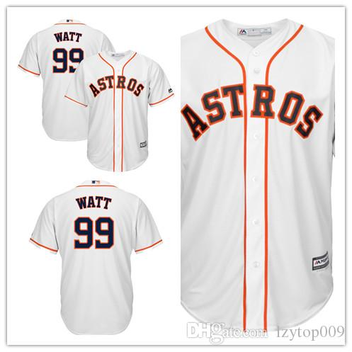 separation shoes 91798 b64ff Men s Astros 99 J.J. Watt Majestic White Crossover Cool Base Player Houston  women kids Jersey